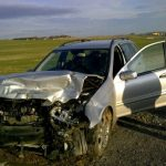 Mercedes Benz C-220T, after accident
