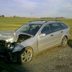 Mercedes Benz C-220T, after accident, picture 2