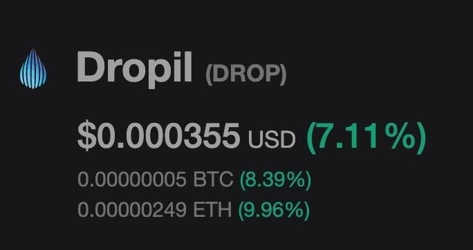 Dropil price, 12.12.2019