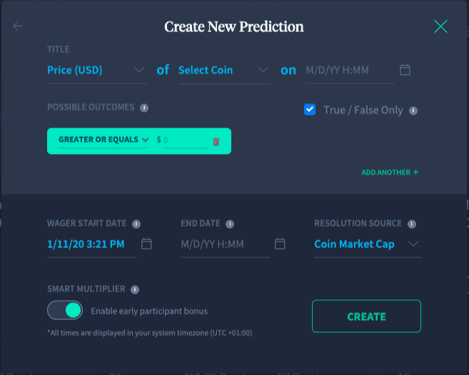 Seer, create new prediction.